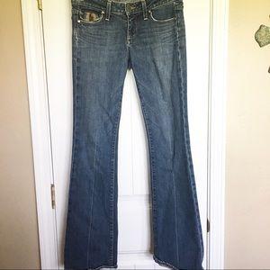 Paige Fairfax Bootcut Premium Denim Jeans Size 27